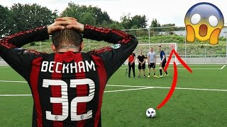 Video DAVID BECKHAM FREE KICK CHALLENGE W/ FORFEIT!! MP3, 3GP, MP4, WEBM, AVI, FLV September 2017