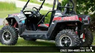 1. 2012 Polaris Ranger RZR S 800 Black/White/Red LE  - Actio...