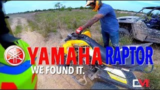 10. Found a 2017 Yamaha Raptor 700R in the middle of nowhere