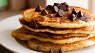 Chocolate Chip Pancakes, 4 Ingredients, Lunches&Snacks, Cooking With Kim