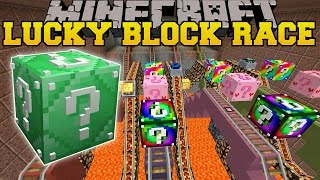 Minecraft: ROLLER COASTER MINE LUCKY BLOCK RACE - Lucky Block Mod - Modded Mini-Game