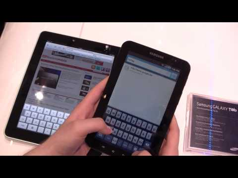Vídeo: iPad vs Samsung Galaxy Tab