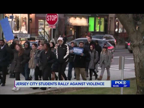 Jersey City students rally against violence following Newport Centre mall shooting