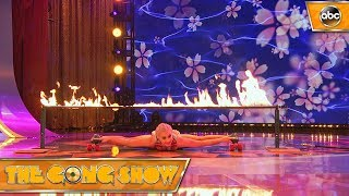 Watch this act, The Limbo Queen, from The Gong Show 1x4 Celebrity Judges: Ed Helms Alison Brie Will Arnett Watch more acts on The Gong Show Thursdays at 109...