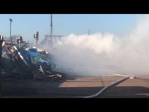 Wideo1: Pożar na Towarowej w Lesznie