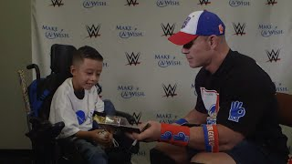 """Alex """"The Bulldog"""" from Make-A-Wish presents John Cena with a custom Mattel action figure that he designed.More ACTION on WWE NETWORK : http://wwenetwork.comSubscribe to WWE on YouTube: http://bit.ly/1i64OdTMust-See WWE videos on YouTube: https://goo.gl/QmhBofVisit WWE.com: http://goo.gl/akf0J4"""