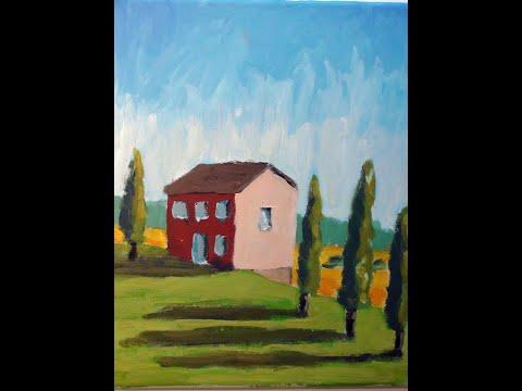 Malen mit Acryl: Toskana Landschaft (Teil 1/2)