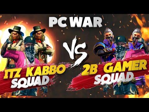 2B Gamer Squad❤ VS Itz Kabbo Squad😂| Clash Squad Funny 4 VS 4 Fight😂| PC VS PC | গর্জে ওঠো বাংলাদেশ🔥