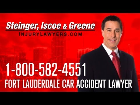 Fort Lauderdale Car Accident Lawyer – 1-800-582-4551