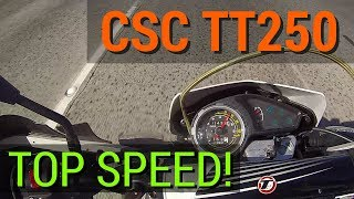 2. CSC TT250 - TOP SPEED! - 47 Tooth Sprocket Review