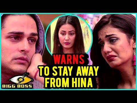 Divya Agarwal WARNS Priyank Sharma To STAY AWAY From Hina Khan | DIVYANK | Bigg Boss 11