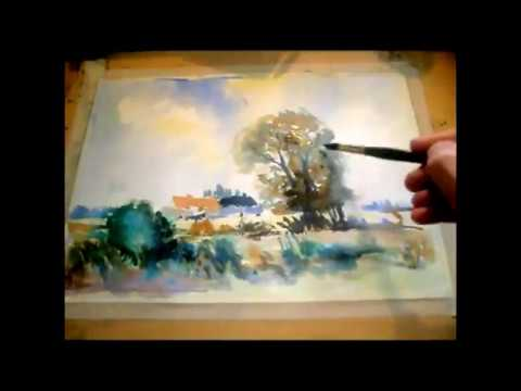 Step by Step Wet Into Wet Watercolour by Sean Terrington Wright