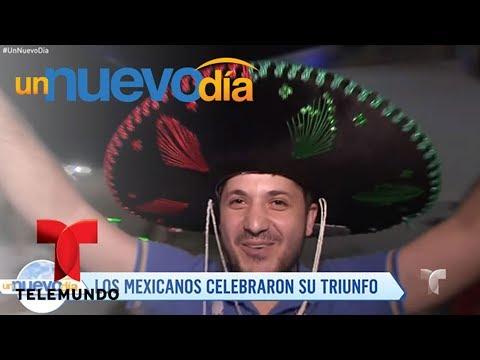 Notícias dos famosos - ¡Los fanáticos mexicanos celebran la victoria en Rusia!  Un Nuevo Día  Telemundo