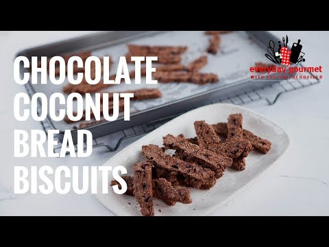 Chocolate Coconut Bread Biscuits   Everyday Gourmet S7 EP39