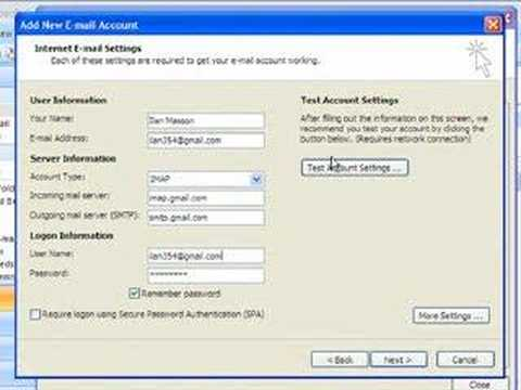 comment installer gmail sur outlook
