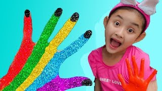 LEARN COLORS FOR CHILDREN BODY PAINT FINGER FAMILY SONG NURSERY RHYMES LEARNING VIDEO FOR KIDS