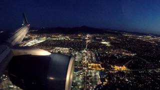 This is for those like me, who love to look out an airplane window. This short video is more like a pure and simple view from the sky. Some highlights include a take-off in the rain, crossing the snow-capped Rocky Mountains at sunset, and landing amid the desert lights of Las Vegas at dusk. Enjoy!