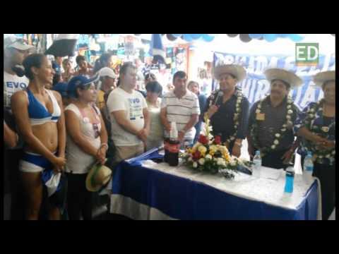 Romero hace campaña con baile de mujeres y batucada en Santa Cruz