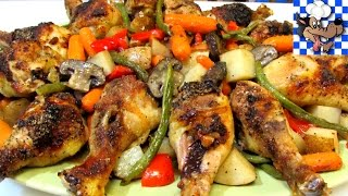 Baked Chicken Recipe with Vegetables is a very simple, quick and easy family style meal all done in one pan. This recipe is not only easy and delicious, ...