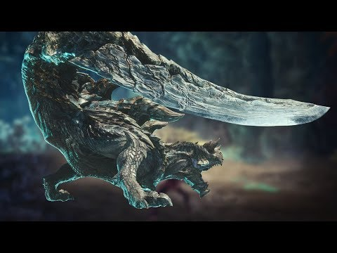 Vidéo de gameplay de l'Acidic Glavenus pour l'extension Iceborne de Monster Hunter World
