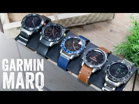 Garmin MARQ Hands-on! $2,500 Watch! Overview, Unboxing, complete user interface walk-through
