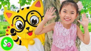 Peek a Boo Song | Mainan dan lagu anak-anak 교육으로 동요와 아기의 노래를