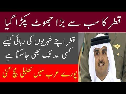 Qater Ka Jhoot Pakra Gya-Pooray Arab Main Khalbali Mach Gi#Hassnat Tv (видео)
