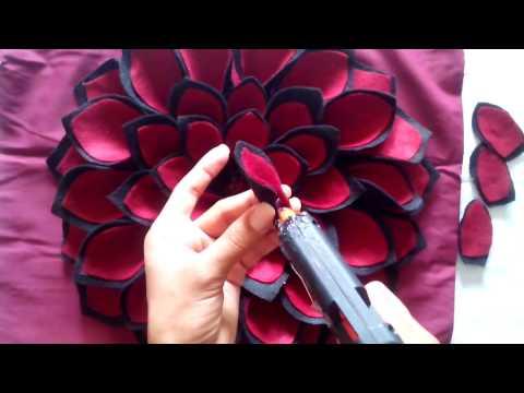 feltro - come realizzare uno splendido fiore