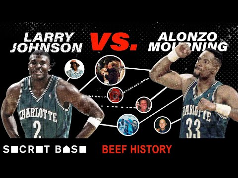 Video: Larry Johnson's beef with Alonzo Mourning included a sad Hornets mural and a weird Knicks-Heat fight