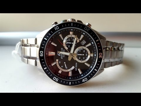 Обзор часов CASIO EDIFICE EFR-552D-1AVUEF (Review) (видео)