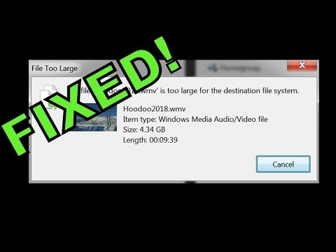 """FIXED! """"File is too large for the destination file system"""" ERROR on flash drive 4+GB file transfer"""