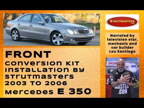 2003-2006 Mercedes E350 Front Air Suspension Conversion Kit Installation
