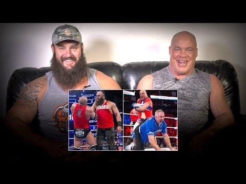 Video Kurt Angle & Braun Strowman rewatch 2017's Raw vs. SmackDown Survivor Series battle: WWE Playback download in MP3, 3GP, MP4, WEBM, AVI, FLV January 2017
