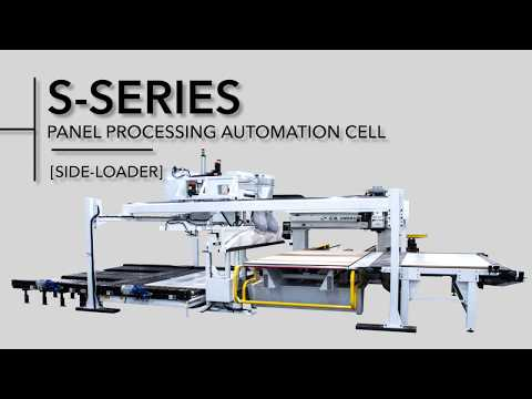 CNC Router Automated Panel Processing Cell by C.R. Onsrud   S-Series Side-loading System