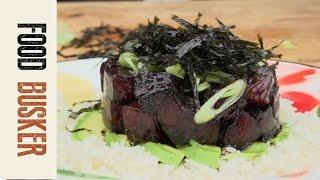 Hawaiian Poke with Tuna   Food Busker by Food Busker
