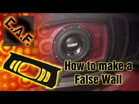 subwoofer - This video will teach you how you can finish a subwoofer build in a car with a trunk or an SUV hatch via the use of a false wall. Many people avoid using a f...
