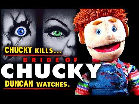 BRIDE OF CHUCKY (1998) - Chucky KILLS, Duncan WATCHES.