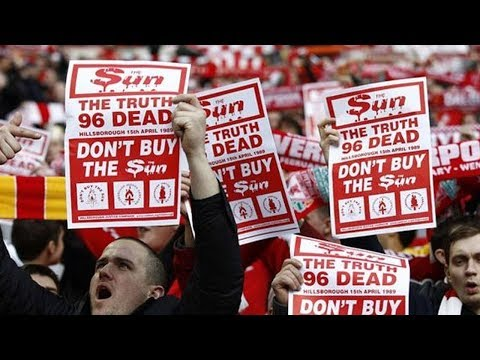WHY DO FOOTBALL FANS BOYCOTT THE SUN NEWSPAPER?