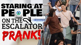 Video Staring At People On The Escalator Prank | Philippines MP3, 3GP, MP4, WEBM, AVI, FLV Desember 2018