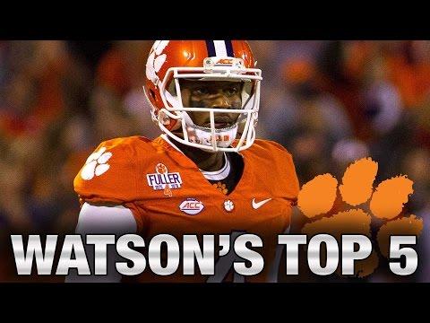 Clemson's Deshaun Watson: Top 5 Favorite Plays Of The Season (видео)