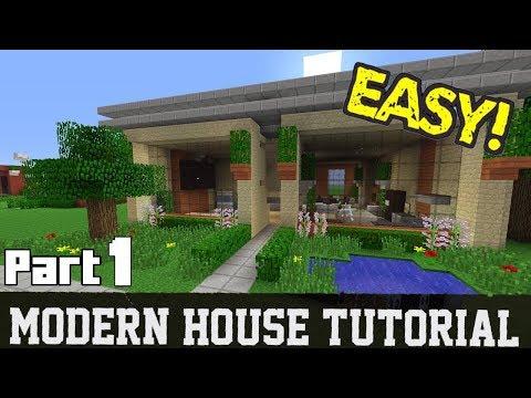 Minecraft Modern House Tutorial (Part 1)