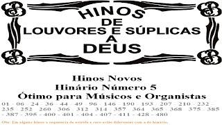 Hinos CCB TocadosÓrgão HINÁRIO Nº 5 Completo