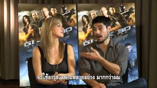 G.I.Joe Retaliation 3D Adrianne Palicki And D.J. Cotrona Thailand Exclusive Interview