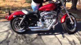 6. 2012 Harley Davidson 883 superlow with short shot pipes