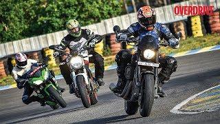 7. Comparision test: Kawasaki Ninja 650, Ducati Monster 797, H D Street Rod