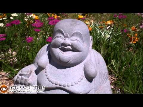 SOLD Stone Fat & Happy Hotei Buddha 21