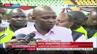 New FKF President Nick Mwendwa talks of CHAN 2018 and new dispensations coming