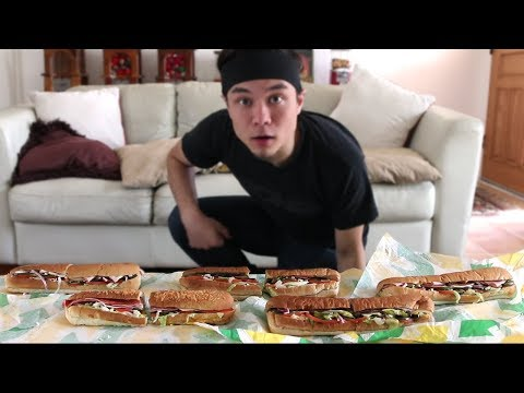 5 Subway Footlong Challenge *Revisited* (Record Attempt) - Thời lượng: 7 phút, 22 giây.