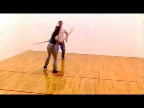 Legend of the Red Reaper: Tara Cardinal and Ray Eddy practice Sword Choreography