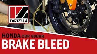 9. How to Bleed Motorcycle Brakes on a Honda CBR 600 RR|Partzilla.com